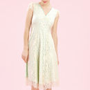 Special Occasion Dress In Ivory Flower Lace - fashion