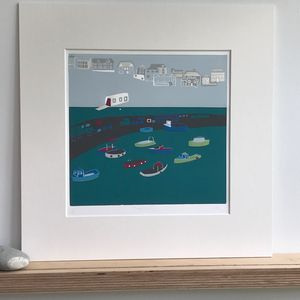 Mevagissey Limited Edition Linocut - nature & landscape