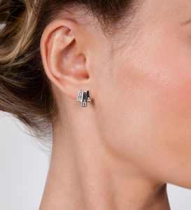 Art Deco Triple Layer Studs