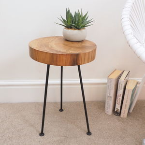 Tree Trunk Side Table - furniture