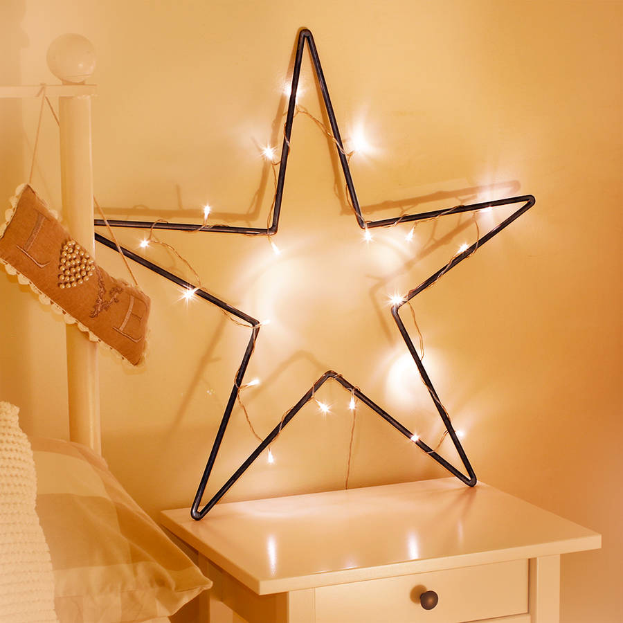 large metal star decoration
