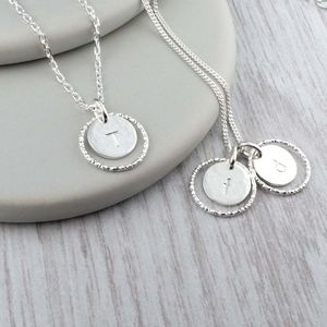 Personalised Silver Circle Necklace - necklaces & pendants
