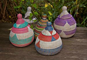 Ethnic Alibaba Conical Pot With Lid - storage & organising
