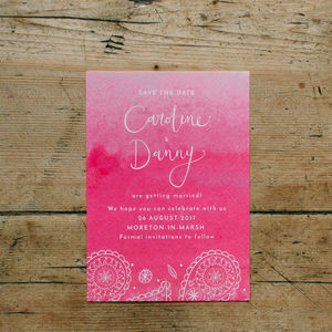 Eastern Glamour Save The Date Cards - black friday sale