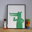 Chatty Crocodile Screenprint