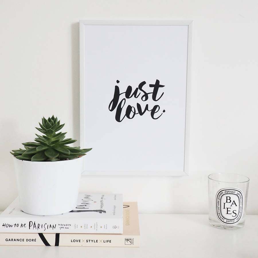 'Just Love' Wall Art Foil Print
