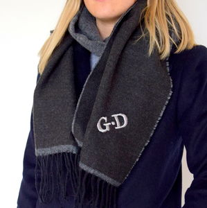 Personalised Two Tone Scarf - hats, scarves & gloves