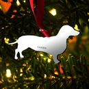 Hallmarked Silver Dachshund Decoration