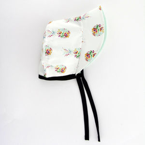 Floral Pineapple Baby Bonnet / Girls Sunhat