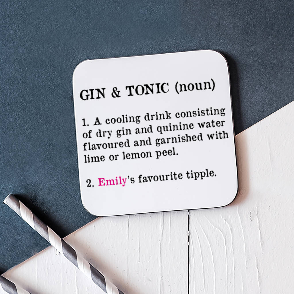 Personalised Gin And Tonic Coaster