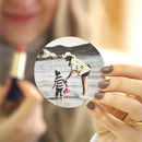 Personalised Photo Compact Mirror For Mum