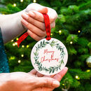 'Merry Christmas' Mistletoe Christmas Tree Decoration