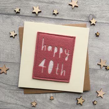 Happy 40th Birthday Milestone Card