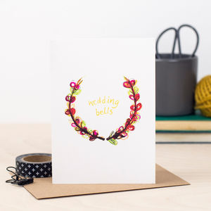 'Wedding Bells' Wedding Card