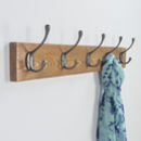Reclaimed Wood Cast Iron Hook Rack Choice Of Sizes