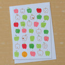 Teacher's Apples Screenprinted Card