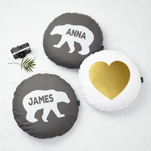 Set Of Three Personalised Polar Bear Cushions - gifts for couples