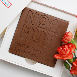 Personalised 'No1 Mum' Mother's Day Chocolate Card - mother's day gifts
