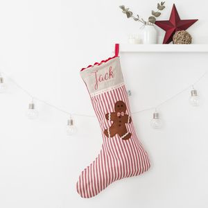 Personalised Gingerbread Man Christmas Stocking - christmas decorations