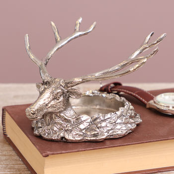Stag Head Textured Tealight Candle Holder