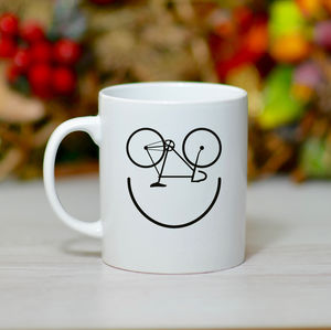 'Bike Smiley' Bike Mug