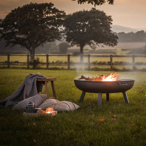 Steel Fire Pits Available In Three Sizes - around the fire