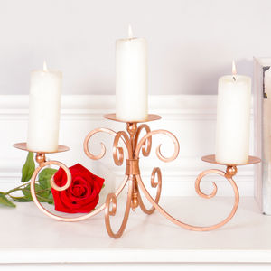 6th Anniversary Rose Copper Candle Display