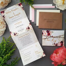 Wild Floral Wedding Invitations