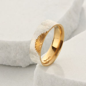 Wide Silver Sunrise Ring - new in jewellery