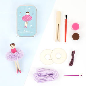Make Your Own Pom Pom Ballerina Gift Tin