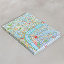 Personalised World Map Travel Journal Notebook A5