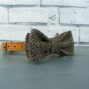 Harris Tweed Bow Tie For Dogs