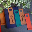 Child's Drawing Personalised Leather Bookmark