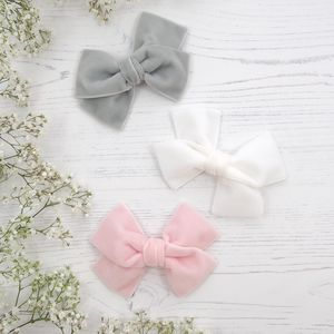 Flower Girl Hair Bow In Velvet - flower girl dresses