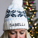 Personalised Adults Pom Pom Hat