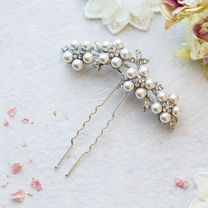 Esha Pearl Hair Pin - tiaras & hair combs