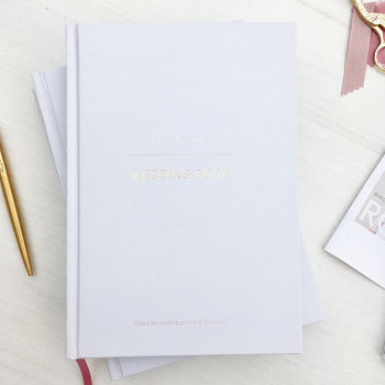 Ice Grey Wedding Planner, Guide, Journal And Notebook