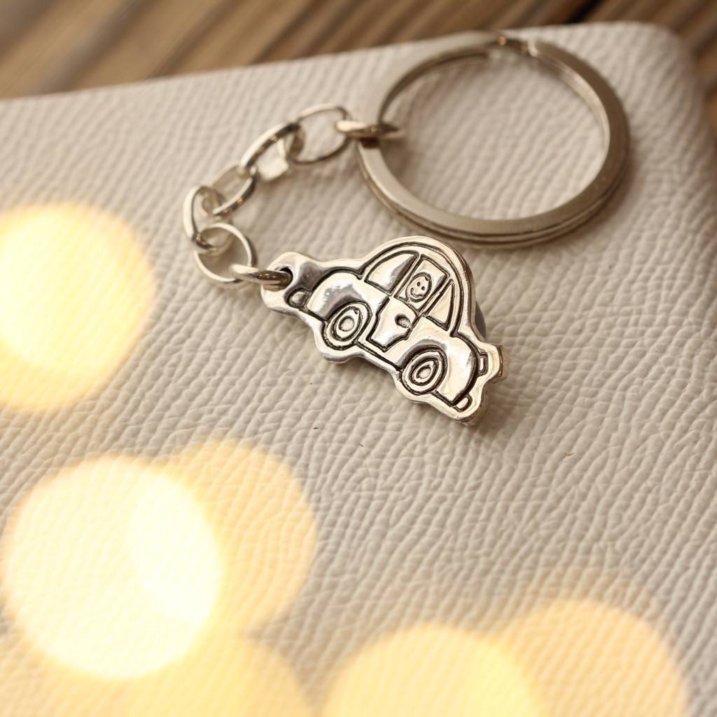Personalised Silver Keyring Drawn By Your Child