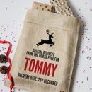 Personalised Christmas Hessian Sack