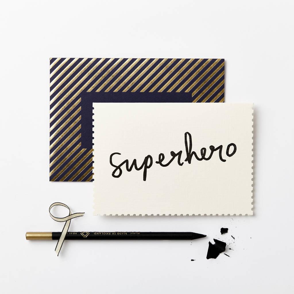 Deco Superhero Card