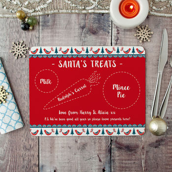 Personalised Christmas Placemat For Santa
