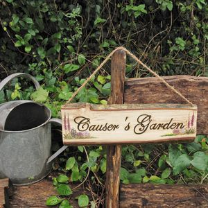 Personalised Garden Sign - art & decorations