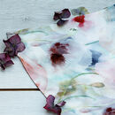 Poppies Melody Long Silk Scarf