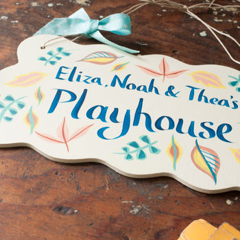 Personalised Treehouse Or Gardener's Gift Sign