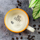 Bee Happy Hidden Message Mug