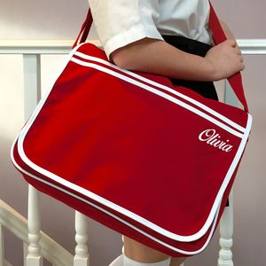 Retro School Messenger Satchel Bag