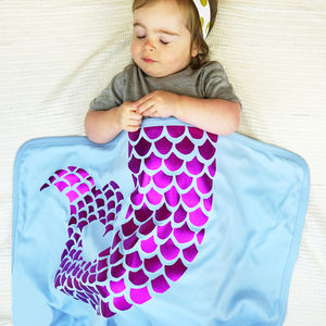 Personalised Baby Mermaid Blanket
