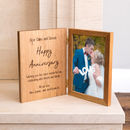 Personalised Photo Frame With Engraved Message