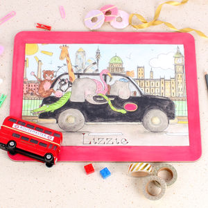 London Taxi Placemat - kitchen