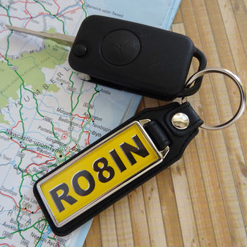Personalised Number Plate Key Ring